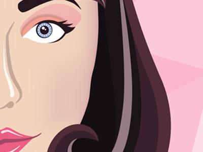 Kimbra melange kimbra pink vector illustration music illustrator gradient mesh portrait