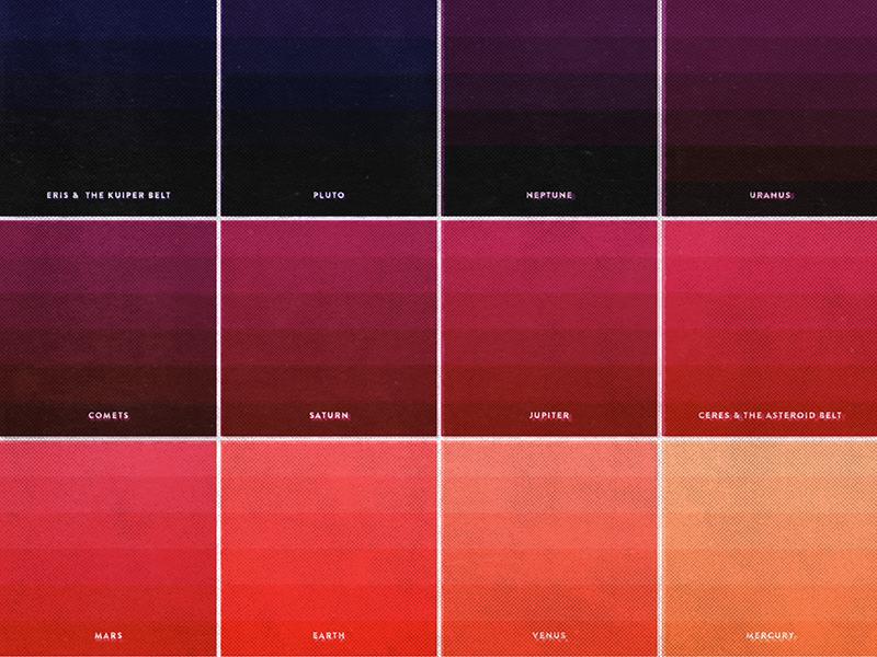 Solar System - Color Test 2 by Melissa K Pierce on Dribbble