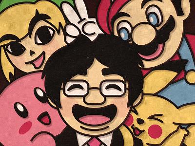 RIP Iwata Satoru rip game video kirby pokemon pikachi mario zelda link nintendo satoru iwata