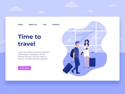 Travel landing page UI/UX Design