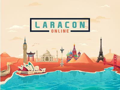 Laracon Online Illustrations ipad procreate website shark jellyfish sea life underwater illustration web design ux ui
