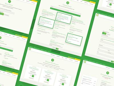 ARCF Donation Web App donations community non-profit accessible web design web usability ux design ui design ux ui web app
