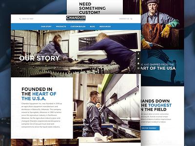 Chandler Truck Accessories Website web responsive design blue ux design ui design website design