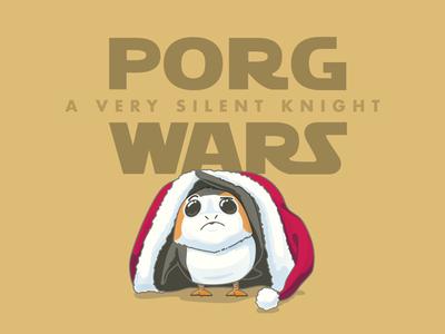 Day 4 - Merry Porgmas! xmas santa christmas jedi porg star wars vector illustrator graphic illustration