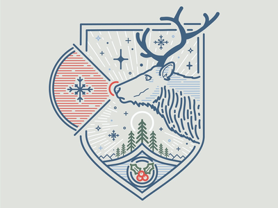 Day 7 xmas christmas reindeer drawing line art illustrator line illustration