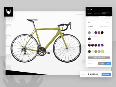 Allied Bike Builder App design ui design ui ux ux ui cycling bicycle web app web