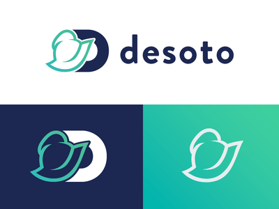 Desoto Logo Mark data exploration discovery logo design branding brand identity brand logo