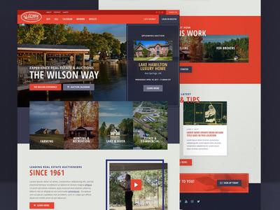 Wilson Website Redesign responsive web design front-end html css ui design ui web