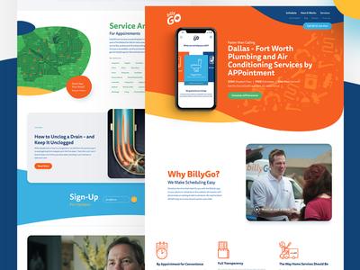 BillyGO Marketing Website app web design web orange marketing responsive uiux ux ui