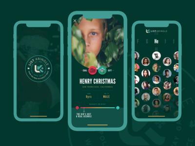 ListKringle App Design ios interaction app design uiux ux ui