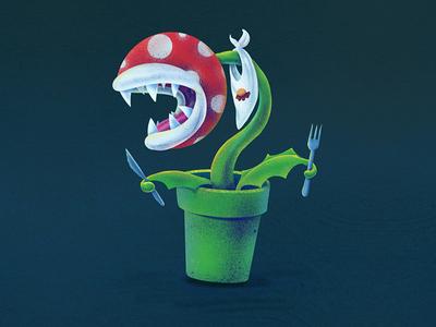 It's-a Me! Piranha Plant! ipadpro procreate app illustration art digitalart nintendo snes mariobrothers nes mario supermario illustration