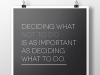 Deciding What Not To Do - Poster