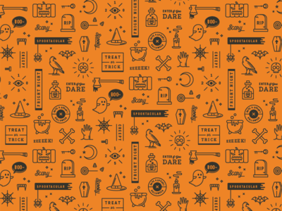 2015 Halloween Patterns by Yiwen Lu - Dribbble
