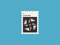 12 Days of Christmas Stamp #4