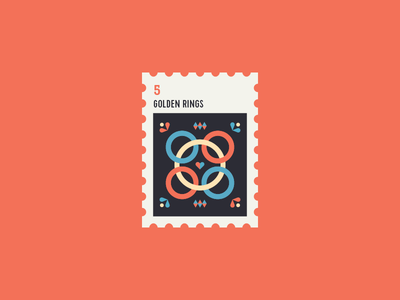 12 Days of Christmas Stamp #5