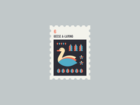 12 Days of Christmas Stamp #6