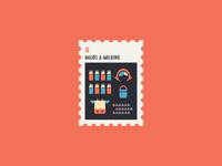 12 Days of Christmas Stamp #8