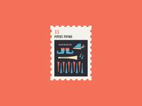 12 Days of Christmas Stamp #11