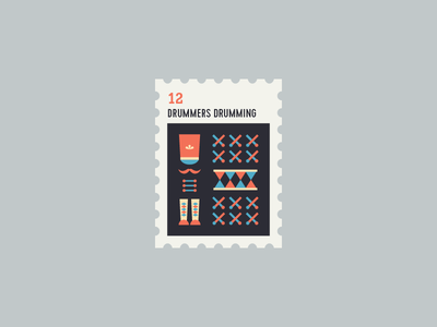 12 Days of Christmas Stamp #12