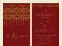 Enyi & Pichaya Wedding Invitation