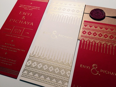 Enyi & Pichaya Wedding Invitation