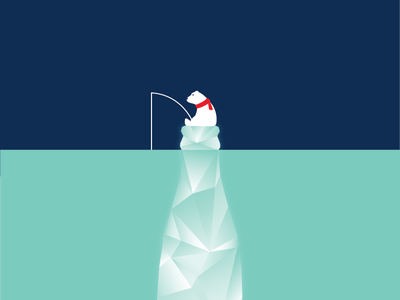 Ice Cold Coke Meshup Poster contour bottle fishing cold iceberg polar bear coca cola coke ice cold poster