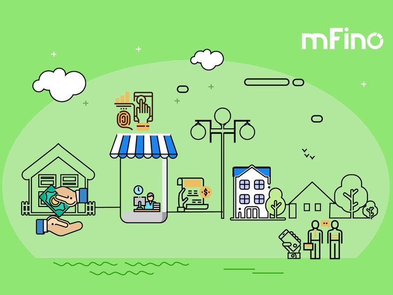 Agency Banking Final Green New rural banking money transfer agency banking agent banking ui ux mfino illustration infographics uidesign uxdesign product design fintech finance app