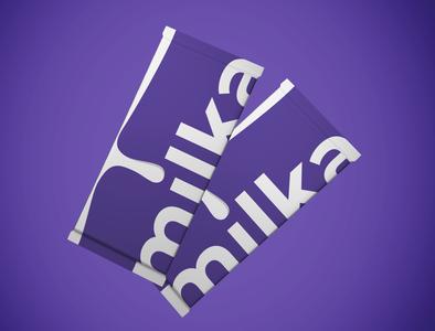 MIlka redesign package milka package packagedesign typography logo logo logos logo design