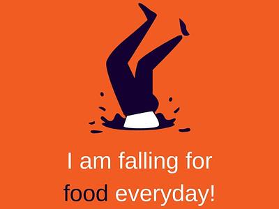 Falling For Food food lover meme food nepali illustration flat design