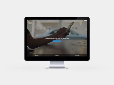 Vungle Website Redesign responsive mobile video branding redesign website vungle