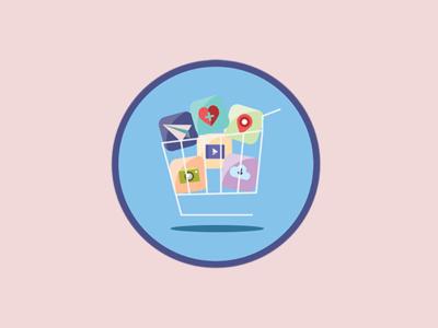 Icon for Premium App Inventory advertising vector illustrator branding flatdesign apps icon