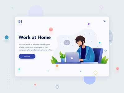 WorkAtHome web drawing app procreate ui illustration dribbble art design