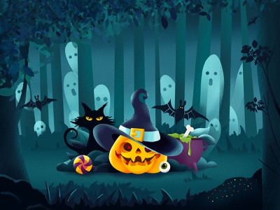 Halloween pumpkin halloween drawing art procreate illustration dribbble design dribbleweeklywarmup