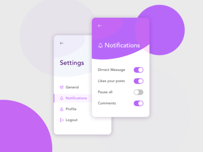 Settings. Daily Ui #7