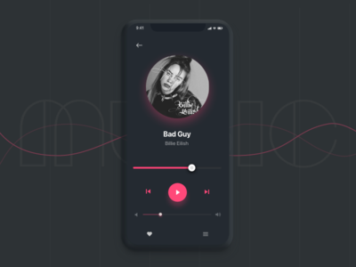 Music Player. Daily Ui #9