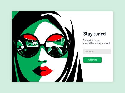 Subscribe illustration ui art dribbble design dailyui