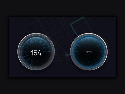 Car Interface app vector illustration ui art dribbble design dailyui