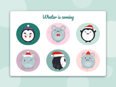 Winter is coming christmas cute art drawing procreate illustration icon logo vector art dribbble design