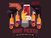Wine Picker. SIte Illustrations