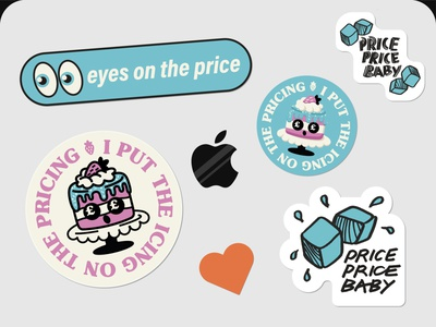 PRICING receipt bank pricing stickers