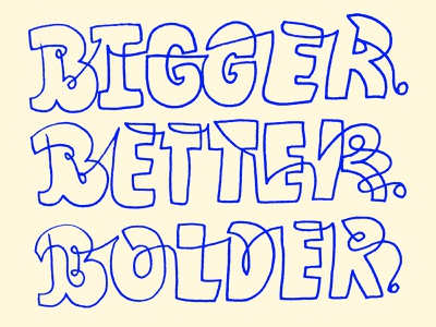 B B B 2 lettering sticker receipt bank bolder better bigger