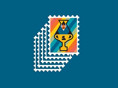 Penguin stamp receipt bank mr pengy penguin stamp
