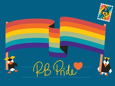 RB Pride <3 receipt bank flag pride penguin