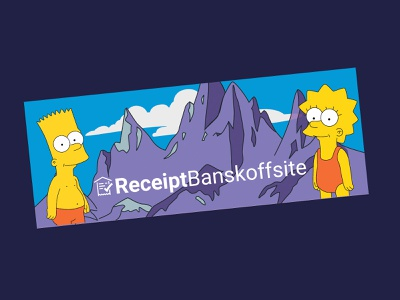 Receipt Banskoffsite receipt bank bansko mountain simpsons sticker