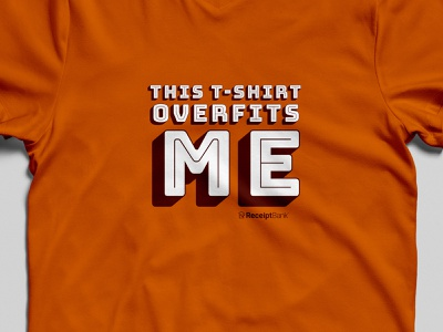 overfit receipt bank overfit orange shirt tshirt