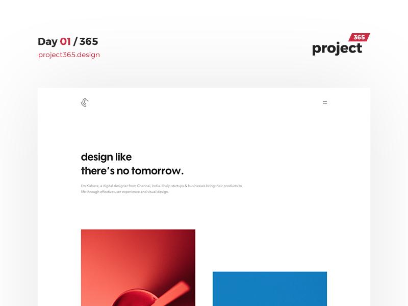 Day 01 - Project365 - 365 Days Design Challenge minimal-monday clean daily-ui portfolio minimal challenge design project365