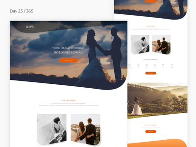 Trajan Pro Challenge - Wedding Agency | Day 25/365 - Project365 wedding-agency wedding-site wedding trajan trajan-pro disruptive-thursday project365 font-challenge