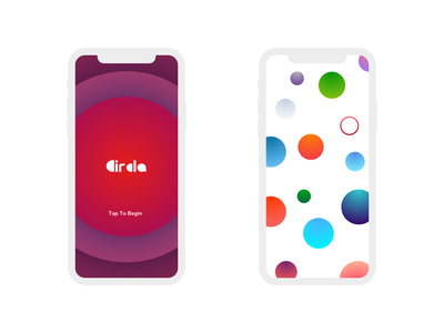 Circla - Fun Mobile Game Concept | Day 32/365 - Project365 minimal simple fun-game ios-game game circle circle-challenge design-challenge project365 disruptive-thursday