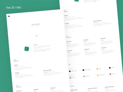 Designer Resume - Sketch Freebie | Day 33/365 - Project365 resume sketch-freebie project365 sketch free freebie minimal portfolio personal freebie-friday designer