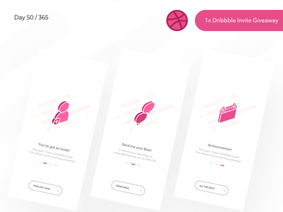 1x Dribbble Invite Giveaway | Day 50/365 - Project365 isometric icons isometric giveaway invite dribbble invite sketch project365 design-challenge minimal-monday minimal